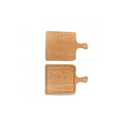 Tagliere quadro con manico Rustic Oak Churchill in legno di quercia cm 36,5x25,5