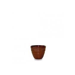 Bicchiere caffè Ripple Bit On The Side Churchill in ceramica vetrificata cannella cl 5,7