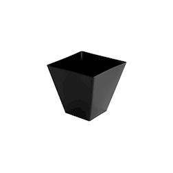 Coppetta prisma in polistirene nero cl 9,5