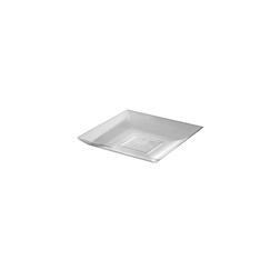 Piattino pratiko in polistirene trasparente cm 9x9