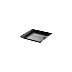 Piattino pratiko in polistirene nero cm 9x9