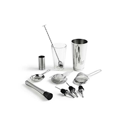 Kit cocktail 11 pezzi in acciaio inox