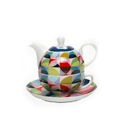 Teiera Tea for One Spicchi in porcellana
