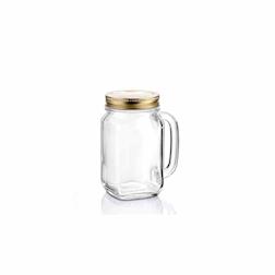 Bicchiere barattolo Country con tappo in vetro cl 48