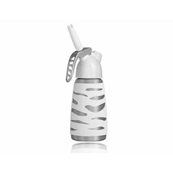 Sifone Dessert Whip mini in acciaio inox gommato bianco cl 25