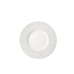 Piatto piano Bamboo Churchill in ceramica vetrificata bianca cm 23,6