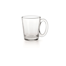 Bicchiere latte Conic Borgonovo con manico in vetro cl 31