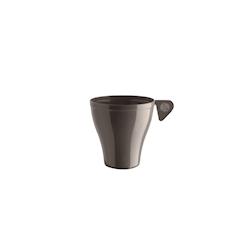 Tazza caffè Moka monouso in plastica tortora cl 9