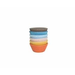 Cup cake mini in porcellana colori assortiti cm 4,7x3