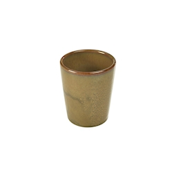 Bicchiere Terra Stoneware in porcellana marrone cl 32