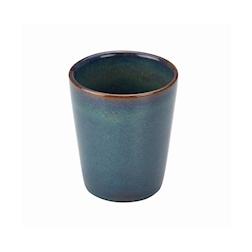 Bicchiere Terra Stoneware in porcellana blu cl 32