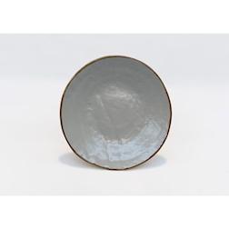 Piatto piano Mediterraneo in ceramica fango cm 20