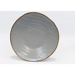 Piatto piano Mediterraneo in ceramica fango cm 27,5