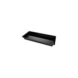 Piattini Karo monouso in plastica nera cm 13x5