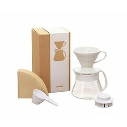 Set caffè americano White Hario bianco cl 40