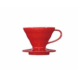 Filtro caffè 1-2 tazze in ceramica rosso