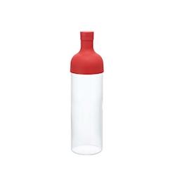 Bottiglia Tè freddo con filtro Hario in vetro e silicone rossa cl 70