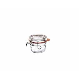 Vasetto Lock-Eat Luigi Bormioli con gancio e guarnizione cl 12,5