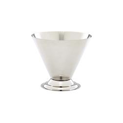 Coppa per snack conica in acciaio inox cm 10