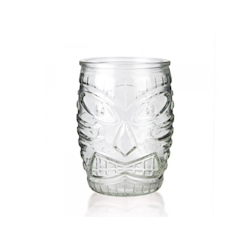 Bicchiere tiki mask in vetro cl 47
