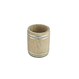 Porta cannucce barile in legno cm 11