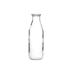 Bottiglia latte in vetro con tappo cl 50