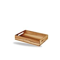Cassetta rettangolare Wood Churchill in legno di acacia marrone cm 30x20x4,8