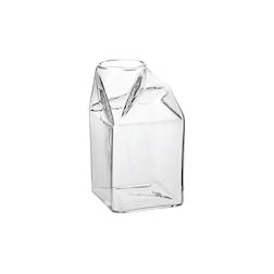 Bicchiere brick di latte in vetro cl 42