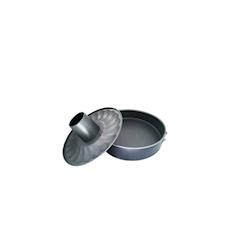 Tortiera apribile 2 fondi in acciaio inox antiaderente cm 26