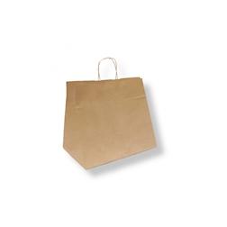 Borse con manici in corda in carta marrone cm 32x28,5x21