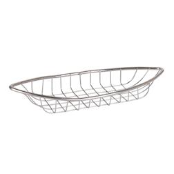 Cestino ovale in acciaio inox cm 21x7,5x3x5