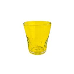 Bicchiere Samoa acqua in vetro giallo cl 31