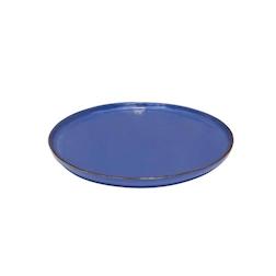 Piatto pizza Mediterraneo in ceramica blu cm 31,5