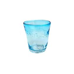 Bicchiere Samoa acqua in vetro azzurro cl 31
