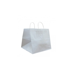 Borse con manici in corda in carta bianca cm 26x17x24