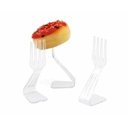 Forchette per buffet in plastica trasparente