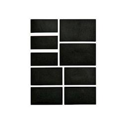 Etichette rettangolari in vinile nero