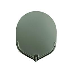 Pala per pizza ovale Stilcasa liscia in alluminio ossidato cm 41