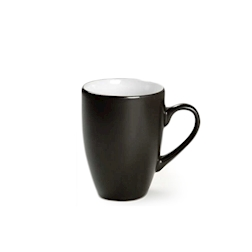 Tazza Simple Black in porcellana nera e bianca cl 32
