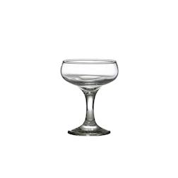 Coppa Champagne Saucer in vetro trasparente cl 15,5