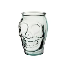 Bicchiere teschio in vetro cl 52