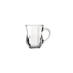 Bicchiere Optic con manico in vetro cl 35