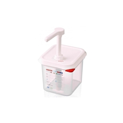 Dispenser salse con erogatore Araven in polipropilene trasparente lt 2