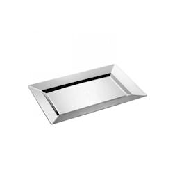 Vassoio rettangolare in plastica argento cm 34,5 x 21,5