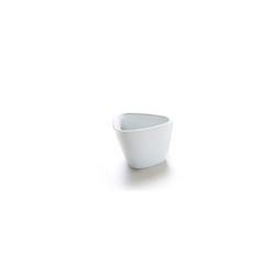 Coppetta triangolare Pebble in porcellana bianca cm 7,5x5,5