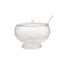 Bowl poncera con mestolo, coperchio e base trasparente lt 10