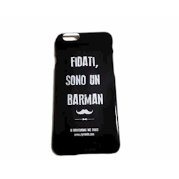Cover I-Phone 6/7 ''Fidati sono un barman'' in plastica nera