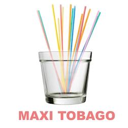 Bicchiere maxi Tobago in vetro trasparente cl 70