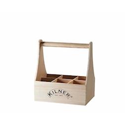 Porta bottiglie Kilner in legno cm 27x20x28