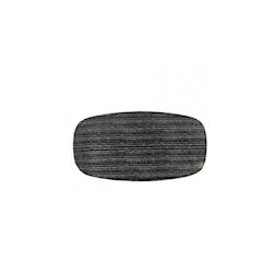 Piatto piano rettangolare Studio Prints Homespun Churchill in ceramica vetrificata nero cm 30x15